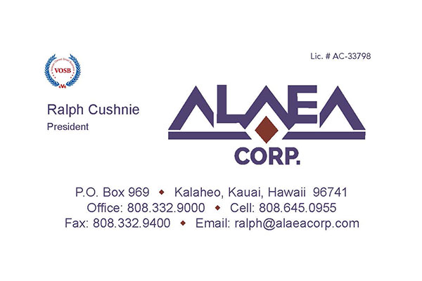 Alaea Business Card