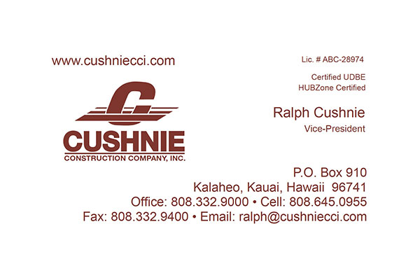 Cushnie Business Card