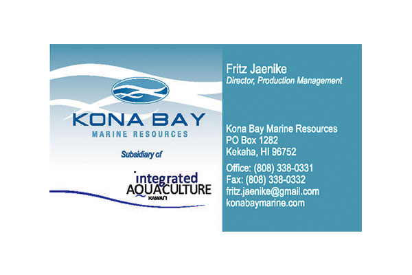 Kona Bay Business Card