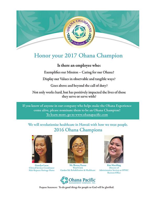 Ohana Champions Flyer
